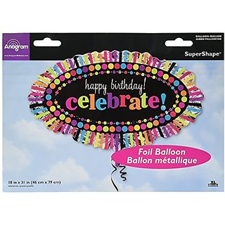 Anagram International 2447801 Happy Birthday Rainbow Celebrate Balloon Pack, 31