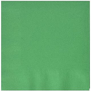 Amscan Disposable 3-Ply Luncheon Party Napkins (50 Pack), Green, 6.7 x 6.6