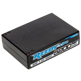 Team Associated 317 Reedy LiPo 5200mAh Square 7.4V 50C Competition Battery