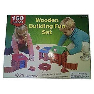 Wooden Building Fun Set 150 piece
