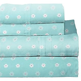 Lullaby Bedding 200-FBFLY Butterfly Garden Cotton Printed Sheet Set, Full