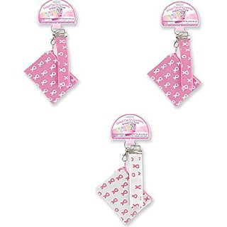Pink Ribbon Coin Wristlets ~ 3pk Assorted ~ October Breast Cancer Awareness Month ~ Great for Cash ID Credit Cards Gift