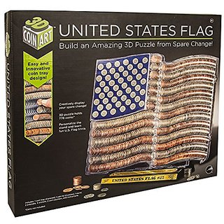 3D Coin Art United States Flag Bank Build an Amazing Puzzle from Spare Change