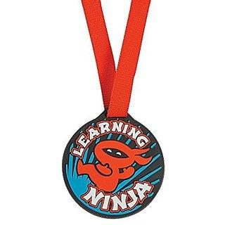 Learning Ninja Student Reward Ribbon Medals - 12 pieces
