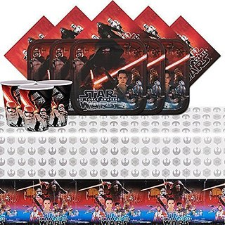 Star Wars the Force Awakens Tableware Pack for 8 with Tabelcover