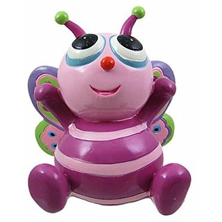 Cute Purple Big-Eyed Butterfly Piggy Bank Money