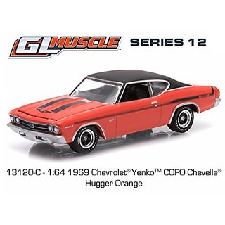 1969 Chevrolet Yenko Copo Chevelle Hugger Orange 1 64 by Greenlight 13120 C