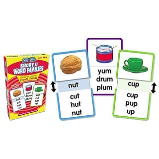 Teacher Created Resources Word Families - Short U Slide & Learn Flash Cards (6562)