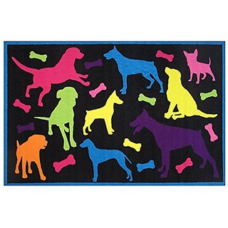 Fun Rugs Fun Time Bow Wow Novelty Rug, 39 x 58