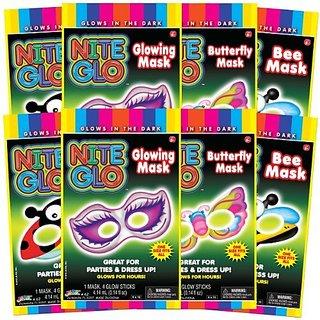 Ja-Ru Nite Glo Mask Party Favor Bundle Pack