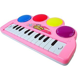Kids Piano, WOLFBUSH Multi-function 3D Electronic Organ Music Keyboard Piano with Flash Light Kids Educational Toy Used