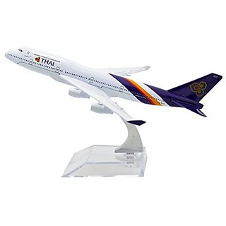 TANG DYNASTY(TM) 1:400 16cm Boeing B747-400 Thai Airlines Metal Airplane Model Plane Toy Plane Model