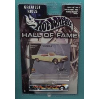Mattel Hot Wheels 2002 Hall Of Fame Greatest Rides 1:64 Scale 35th Anniversary Black With Flames 1964 Lincoln Die Cast C