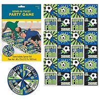 Amscan Soccer Goal Birthday Party Bend & Twist Game (2 Pack), Green Blue, 9.2 x 6.2