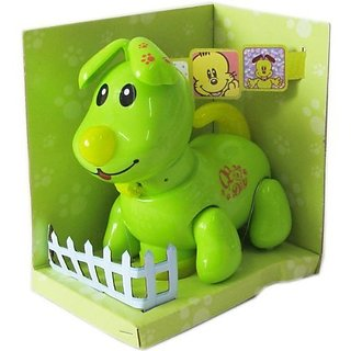 cutequeen trading dog green Flash Light,music and Move