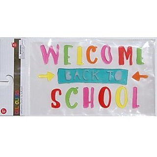 Back to School Colorful Gel Clings - Welcome Back to School - 16 Piece