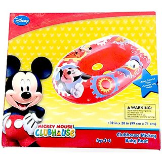 Disney Mickey Mouse Inflatable Kids Float Baby Boat Age 3 - 6