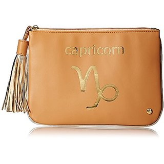 Stephanie Johnson Capricorn Flat Pouch, Tan, Large