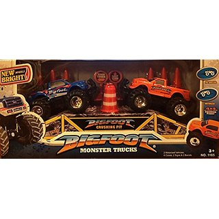 New Bright Wheels Bigfoot Monster Trucks Set (2 Motorized Trucks)