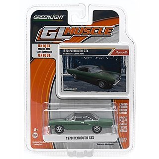 1970 PLYMOUTH GTX (Ivy Green) GL Muscle Series 12 Greenlight Collectibles 1:64 Scale 2015 Die-Cast Vehicle & Trading Car