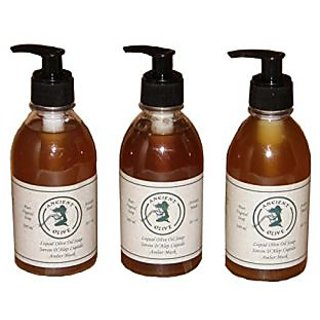 Ancient Olive Liquid Soap, Amber Musk, 3 Count
