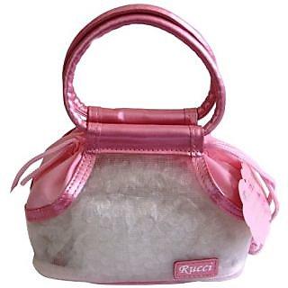 Rucci Cosmetic Bag, Pink Mesh