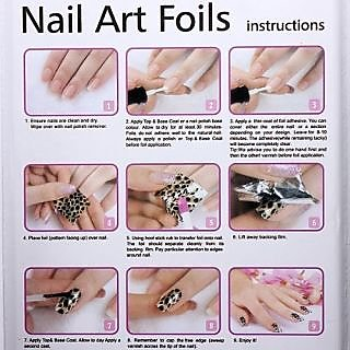 Jovana Newest Fashion 25 colors Nail Art Transfer Foil Nail Sticker Tip Decoration