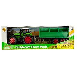 Kole Friction Powered Farm Tractor Toy Set