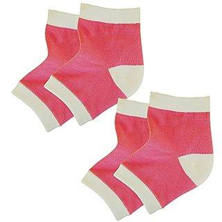 Bodiance Gel Heel Socks for Moisturizing Repair & Healing of Cracked, Dry, Rough Skin on Feet(2 pairs)