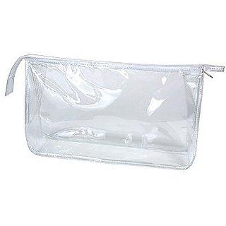 Clear Vinyl Rectangular Travel/Cosmetic Bag
