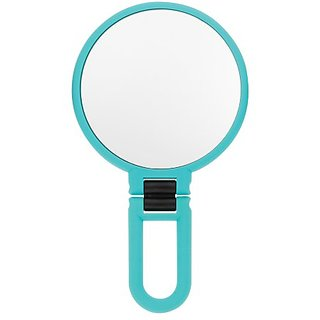 Danielle Soft Touch 10X Hand Held or Folded Mirror, Blue