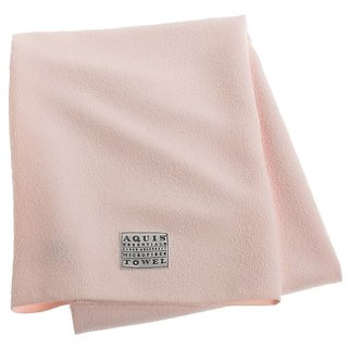 Aquis Microfiber Body Towel, Lisse Crepe, Pink (29 x 55-Inches)