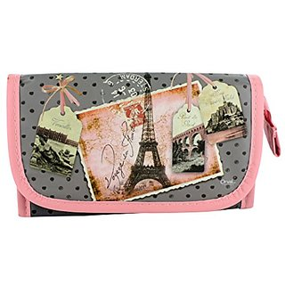 Paris Vintage Cosmetic Pouch with Mirror - Voyage En France