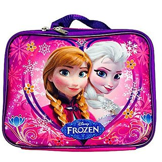 Disney Frozen Elsa and Anna Lunch Bag- Hot Pink Heart