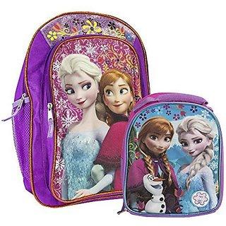 Fast Forward Disney Frozen Anna & Elsa Purple Backpack & Musical Lunchbox