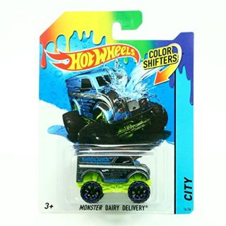 MONSTER DAIRY DELIVERY COLOR SHIFTERS 2014 Hot Wheels City Series 1:64 Scale Vehicle #14-36