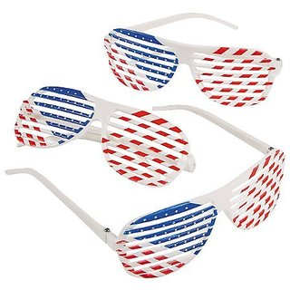Fun Express Patriotic Shutter Shading Glasses (1 Dozen)