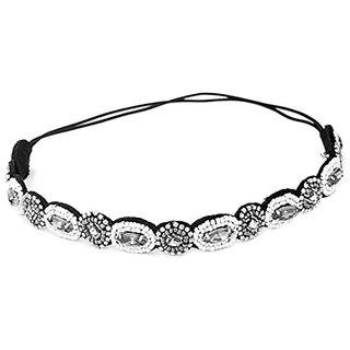 Rhinestone Headband Fashion Crystal Bead Head Band Beauty Wedding Party Hairband for Women