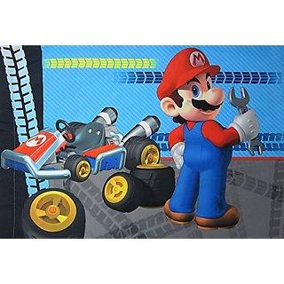 Super Mario Mariokart 7 (Pillowcase Only) Size STANDARD Boys Girls Kids Bedding