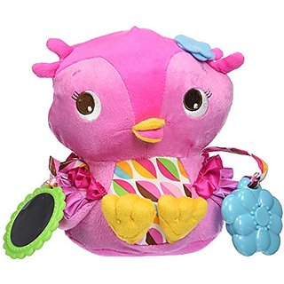 Bright Starts Pretty In Pink Plush Toy, Hootie Cutie