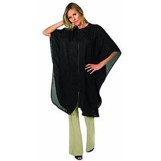 Betty Dain Fashionaire Zippered Caftan, Black