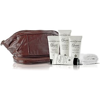 Scottish Fine Soaps Classic Male Grooming Gentlemans 6 Piece Travel Bag Set From Scotland
