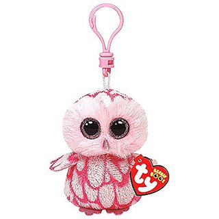 Claires Accessories Ty Beanie Boos Pinky the Pink Owl Plush Clip On - 5