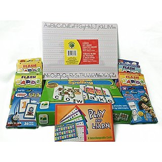 Spelling Puzzle Learning Bundle (Addition, Subtraction, Multiplication, Division, Spanish, Writing, Telling Time, Counti