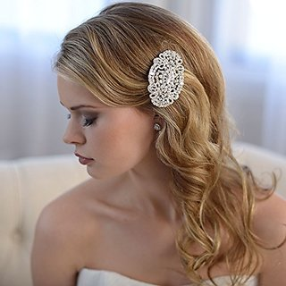 USABride Vintage Art-Deco Inspired Bridal Hair Comb with Rhinestones 2252