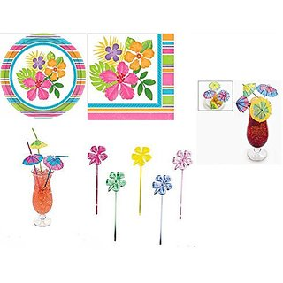 Tropical Party Supply Pack (246 Pcs)