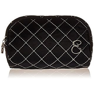 Kate Aspen Cosmetic Couture QuiltedMonogrammed Make-Up Bag, Letter E