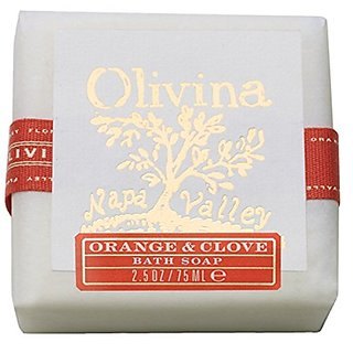 Olivina Bath Bar Soap, Orange-Clove, 4 Ounce