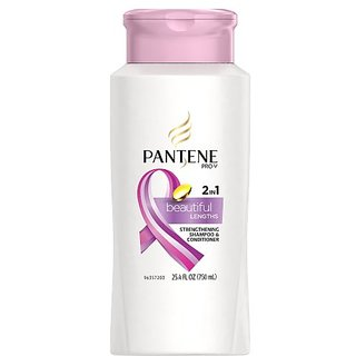 Pantene Pro-V Beautiful Lengths Strengthening 2-In-1 Shampoo & Conditioner 25.4 Fl Oz (packaging may vary)