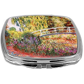 Rikki Knight Compact Mirror, Claude Monet Art Le Bassin Aux Nympheas, 3 Ounce